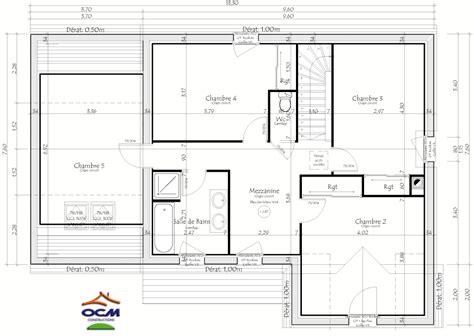 plans maison plain pied 4 chambres maisons 5 chambres 5
