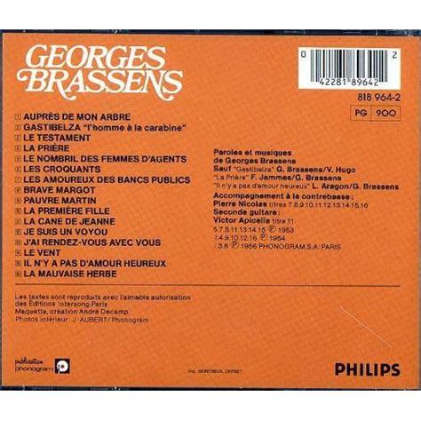 Les Amoureux Des Bancs Publics De Georges Brassens En Cd