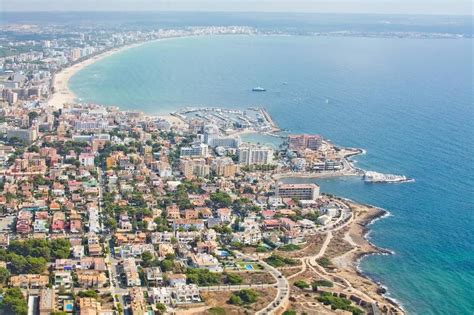 Mallorca Home Colored By Sea View by Aerial View Palma Majorca Stock Images 355