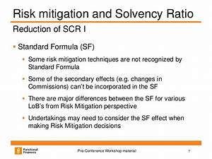 De-risking under solvency ii
