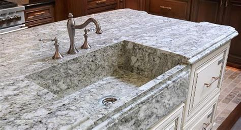 quartz countertop with integrated sink the lowdown on integrated sinks for kitchen countertops