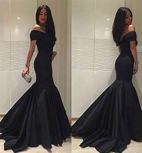 New Fashion 2017 Black Formal Dresses,Custom Satin Mermaid ...
