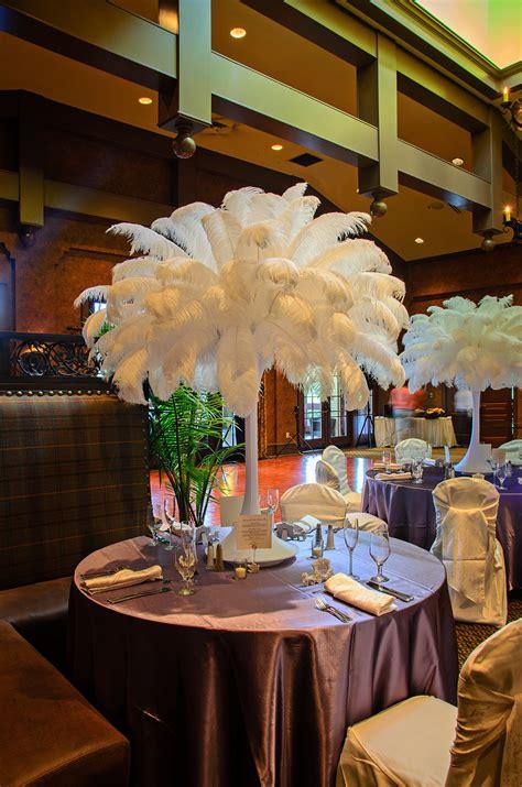wedding table decorations diy ostrich feather centerpieces diy rentals designer 1178