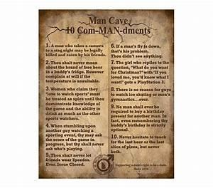 The 10 ComMANdments - Funny College Tin Sign Dorm