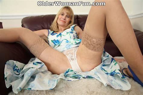 56 year old british milf ila jane strips off her dress by