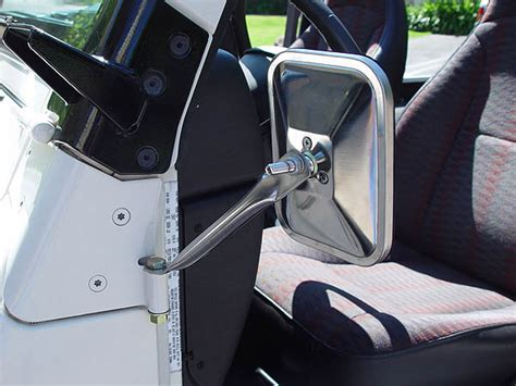 jeep wrangler side mirrors doors jeep doorless budget mirror mount