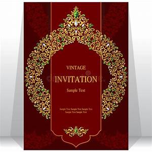 Wedding invitation or card with abstract background stock for Wedding invitation printing in dubai