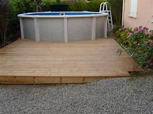 Deco Piscine Hors Sol : terrasse pin andernos les bains plage de piscine hors sol pose de terrasse bois ~ Melissatoandfro.com Idées de Décoration