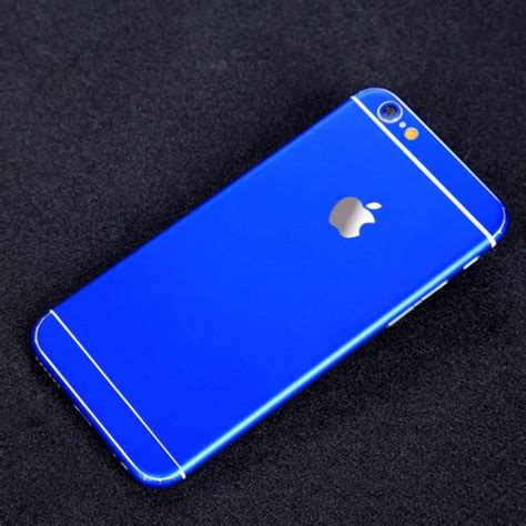 blue iphone matte royal blue iphone sticker skin cover