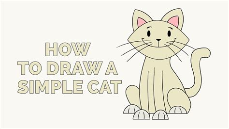 draw  simple cat easy step  step drawing