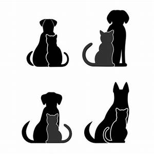 Silhouettes of Dogs and Cats - Dog Clip Art Pictures