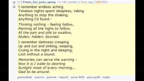 indiefied poemforyoursprog comments  drug addiction
