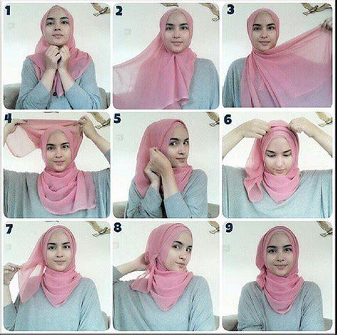 tutorial hijab pashmina   jilbab gucci