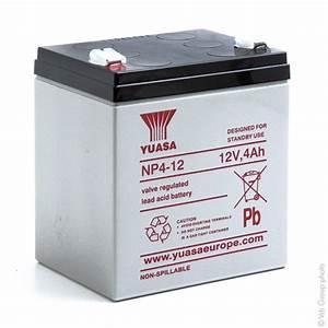Batterie 12v 4ah : batterie plomb agm yuasa np4 12 12v 4ah f4 8 amp9217 all ~ Medecine-chirurgie-esthetiques.com Avis de Voitures