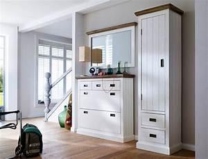 Garderobe 3 Teilig : garderobe gordon 24 wei struktur akazie 3 teilig 195x200x40 dielenset wohnbereiche bad ~ Indierocktalk.com Haus und Dekorationen