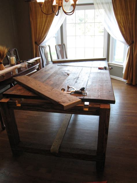 diy friday rustic farmhouse dining table betterdecoratingbiblebetterdecoratingbible