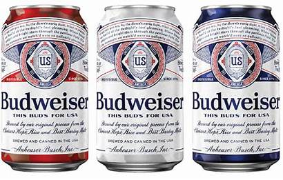 Cans Budweiser Patriotic Military Themed Families Support