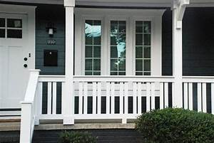 adding craftsman elements changed this whole house duplex With 4 creative porch railing ideas for your house
