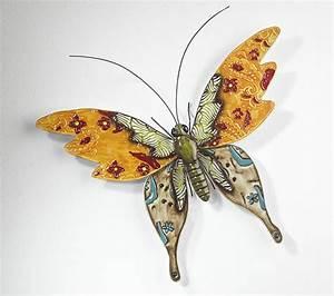 Metall Deko Wand : blech bild schmetterling gecko libelle eidechse wand deko wandschmuck metall ebay ~ Markanthonyermac.com Haus und Dekorationen