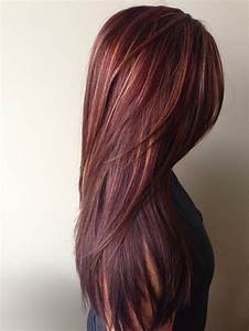 HOW-TO: Rich Red Hair Color with Golden Caramel Highlights ...