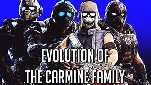 Evolution Of The Carmine Family Gears Of War 1 4 2006