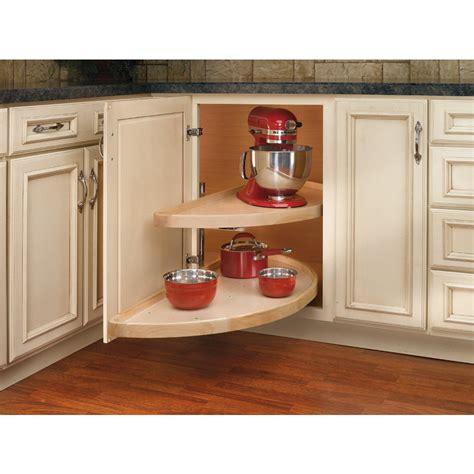 lazy susan for kitchen corner cabinet shop rev a shelf 2 tier wood half moon cabinet lazy susan