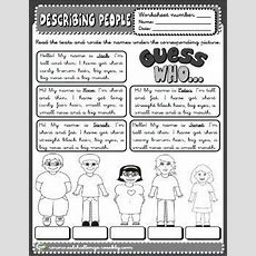 Describing People Worksheet  Grammar  Vocabulario En Ingles, Fichas Ingles Y Gramática Inglesa