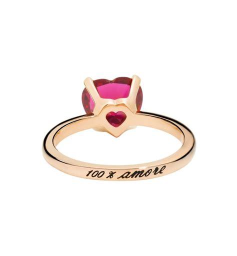 anello pomellato cuore anello 100 dodo oro rosa e rubino sintetico ad9 am sr