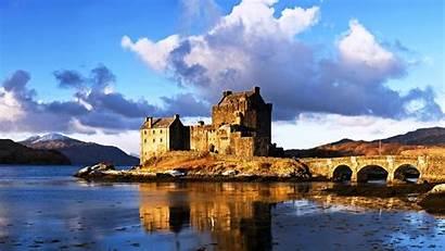 Castillo Donan Eilean Castelos Castelo Lago Wallpapers