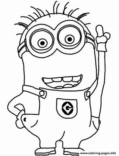 Coloring Dave Minion Crazy Pages Printable