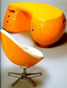 Space Age Möbel : b ro bitte in orange schreibtisch stuhl i retro space age pop art design interiors and ~ Orissabook.com Haus und Dekorationen