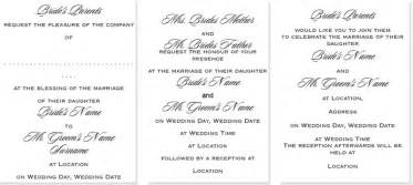 how to write wedding invitations wedding wording styles