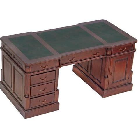 bureau de style mode bureau style anglais 180 cm acajou sous vert bristol