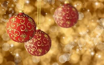 Christmas Ornaments Gold Ornament Backgrounds Balls Lights