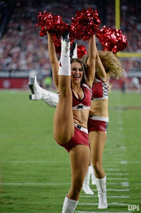 arizona cardinals cheerleader   high kick