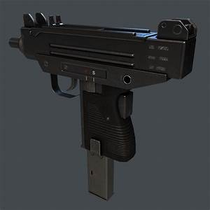 3D model Micro Uzi SMG VR / AR / low-poly MAX OBJ 3DS FBX ...