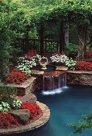 Beautiful Backyard Flower Gardens Ponds