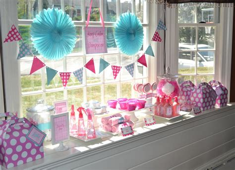 Birthday Decoration Ideas Home Girl Girls Spa Party