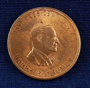 US President Harry S Truman Commemorative Coin Used - 1945