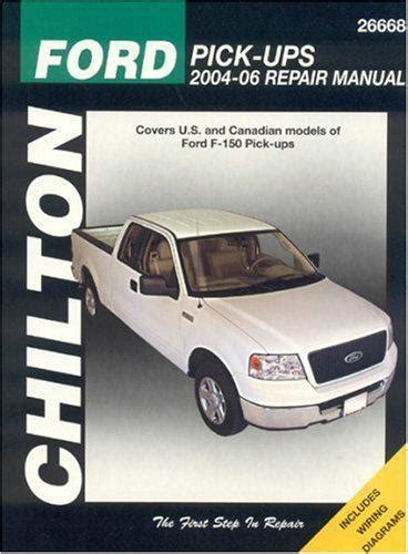 ford  pickups   chilton owners service