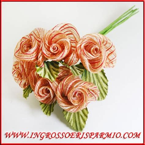 fiori bomboniere fai da te 72 fiori quot arancio quot artificiali confezione decorazioni