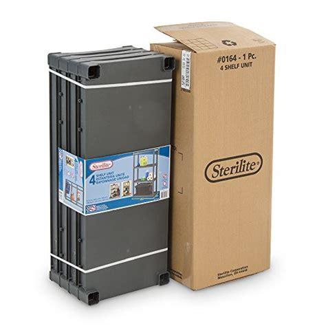 sterilite 4 shelf flat gray sterilite 01643v01 4 shelf unit flat gray shelves legs