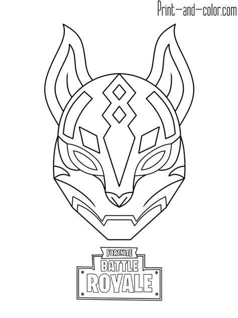 fortnite battle royale coloring page drif mask