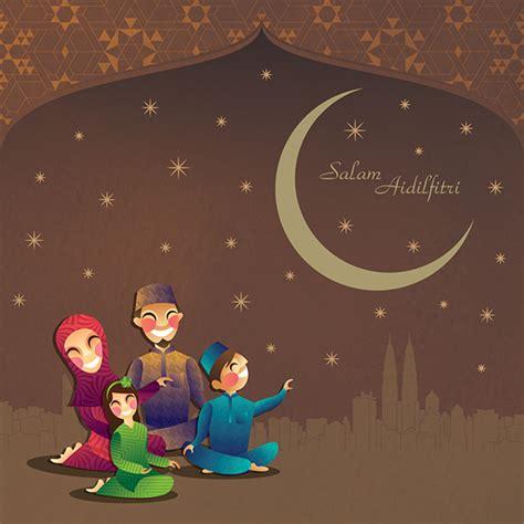 hari raya greeting card  behance