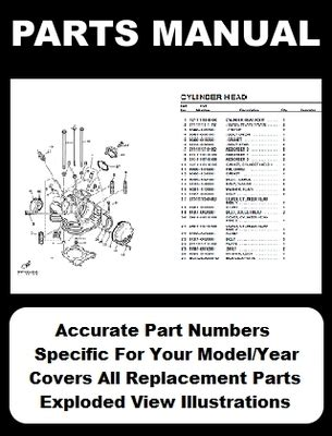 Indian Scout Spirit Motorcycle Parts Manual Catalog
