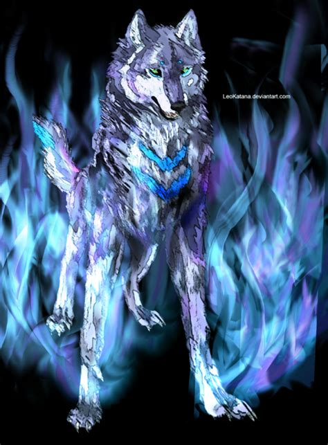 Blue And Purple Wolf Wallpaper by Blue Purple And Black By Leokatana On Deviantart