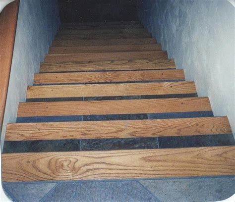 slate and wood floor kendall s custom wood floors and steps inc red oak and slate tile combination photos
