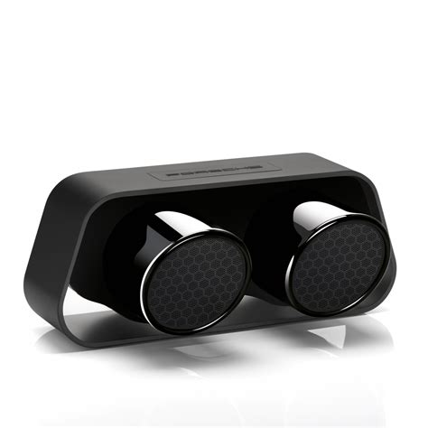 porsche design porsche design uses 911 gt3 exhaust for bluetooth speaker