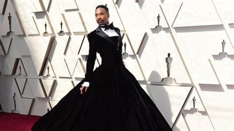 Man Dress Billy Porter Wears Tuxedo Gown