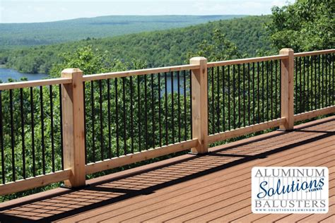 Decking Handrail Brackets by Solutions Aluminum Railing Amp Aluminum Balusters